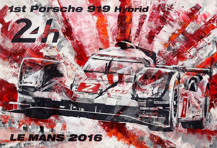 24h Le Mans 2016 Porsche 919 Hybrid