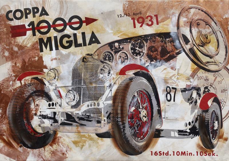 Rudolf Caracciola Mille Miglia 1931 Mercedes SSKL