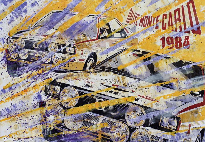 Walter Röhrl Rallye Monte Carlo 1984 Audi
