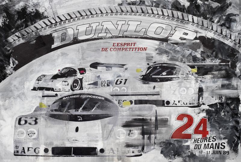 Jochen Mass Le Mans 1989 Mercedes