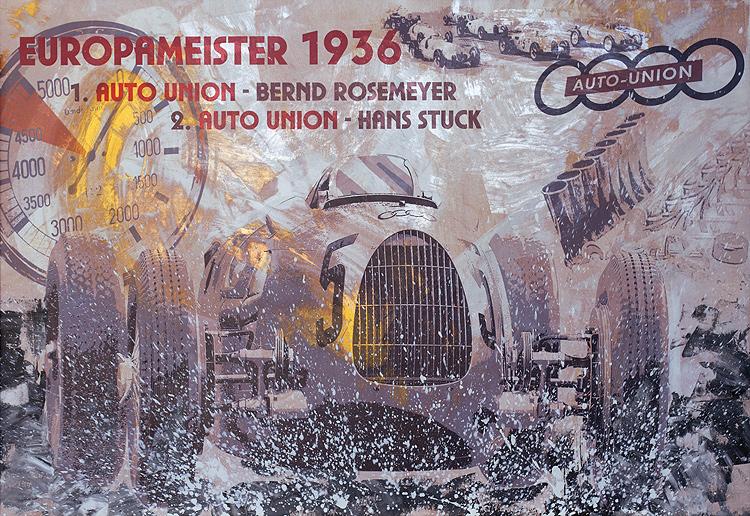 Bernd Rosemeyer Europameister 1936 Auto Union
