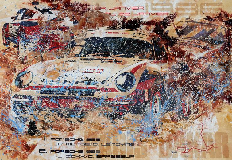 Rene Metge Rallye Paris-Dakar 1986 Porsche