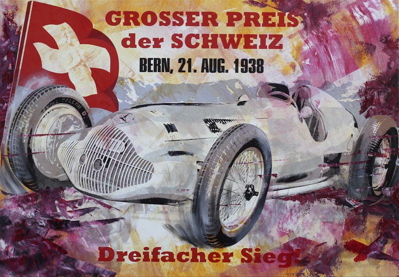 Rudolf Caracciola Grand Prix Schweiz 1938 Mercedes W154