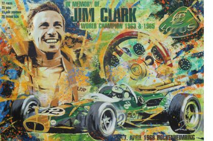 Jim Clark Hockenheimring 1968 Lotus