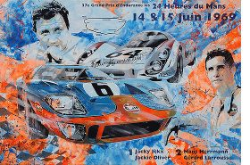 Jacky Ickx Le Mans 1969 Ford GT40