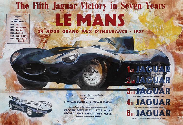 Jaguar Le Mans - PopArt von Bernd Luz