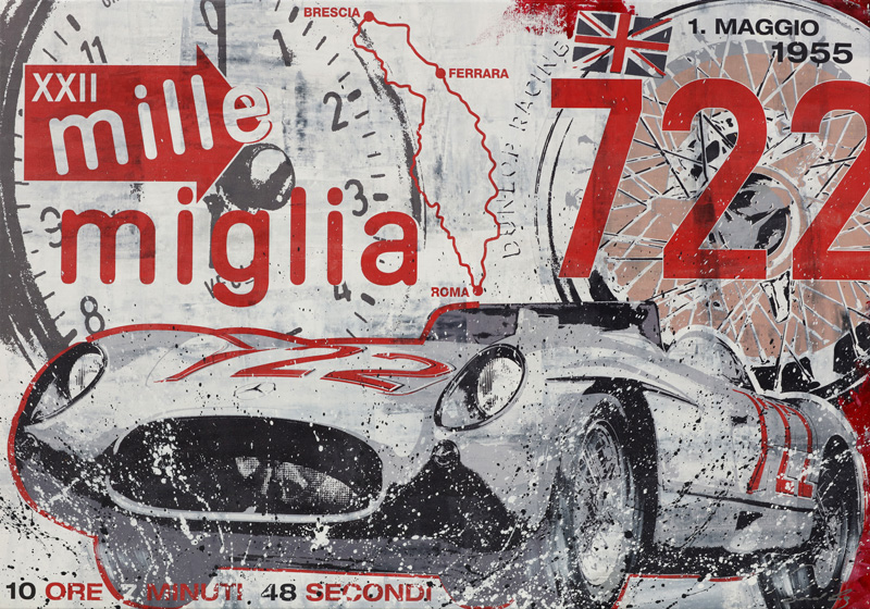 Stirling Moss Mille Miglia 1955 Mercedes