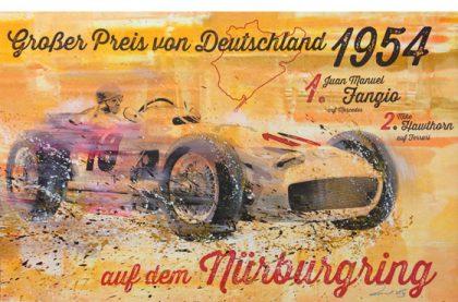 Juan Manuel Fangio Nürburgring 1954 Mercedes