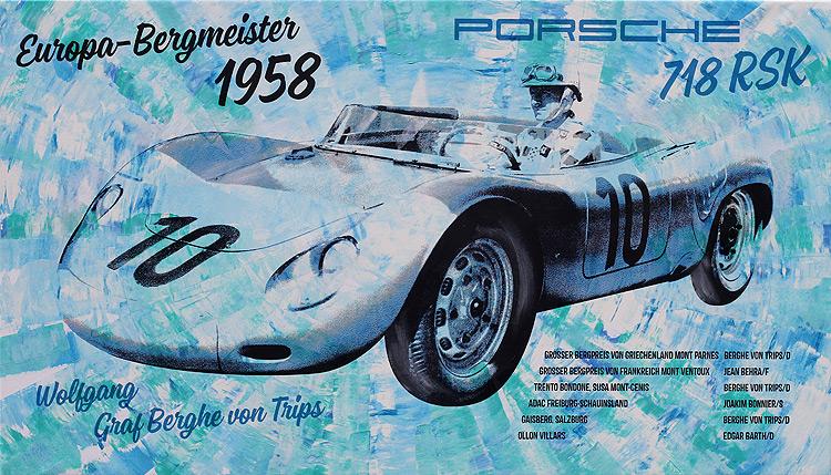 Wolfgang Graf Berghe von Trips Bergmeister 1958 Porsche