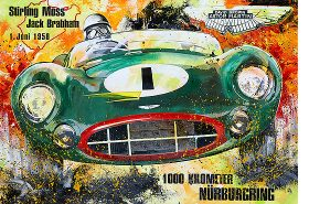 Stirling Moss 24h Nürburgring 1958 Aston Martin